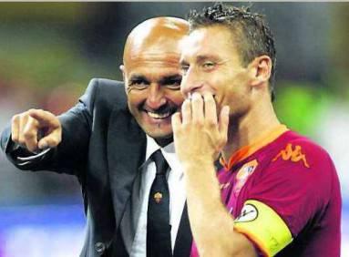 Francesco Totti e Luciano Spalletti