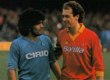 Maradona  & Falcao in un Napoli-Roma