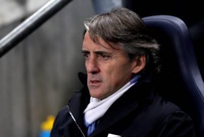 L'allenatore del Manchester City, Roberto Mancini