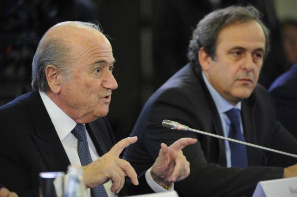 Blatter e Platini in conferenza (Getty Images)
