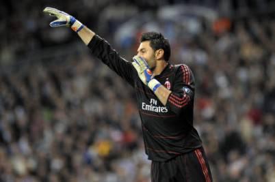 Il numero 1 del Milan Marco Amelia