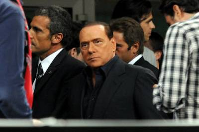 Un'immagine di Berlusconi a San Siro