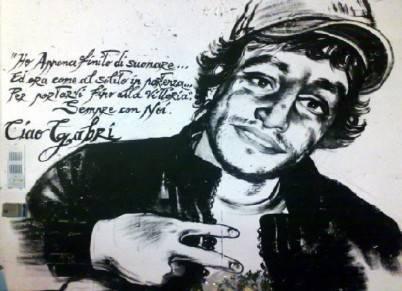 Immagine commemorativa del giovane Gabriele Sandri