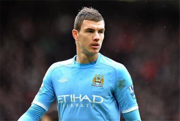 L'attaccante bosniaco del Manchester City Edin Dzeko (Getty Images)