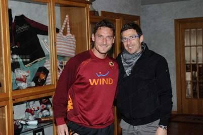 Eusebio Di Francesco insieme all'amico ed ex compagno Francesco Totti