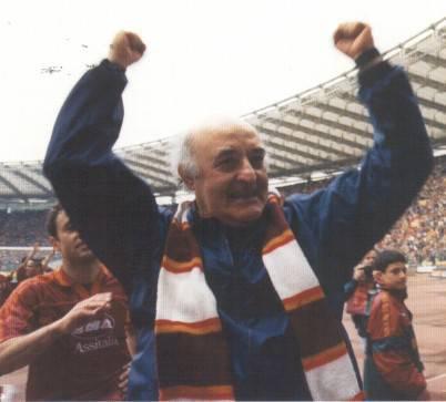 Carlo Mazzone tecnico della Roma negli anni '90