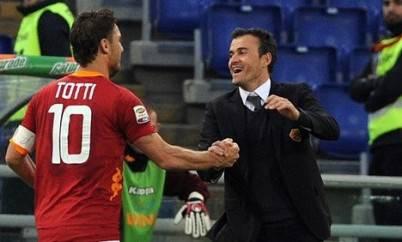 La Roma di Totti e Luis Enrique imbattuta in casa nel 2012