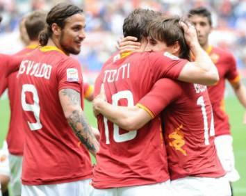 I giallorossi esultano dopo la vittoria di ieri sul Novara (Getty Images)