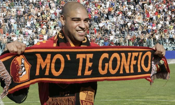 L'ex attaccante giallorosso Adriano