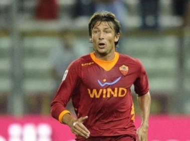 Il difensore argentino della Roma Gabriel Heinze