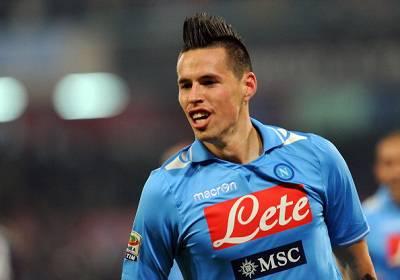 Il centrocampista del Napoli Marek Hamsik