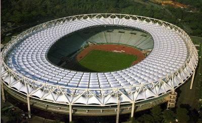 Una veduta dall'alto dello stadio Olimpico