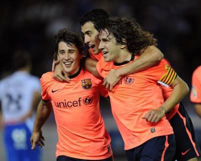 Bojan e Puyol ai tempi del Barcellona