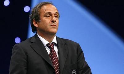 Il presidente Uefa Michel Platini