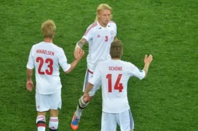 Simon Kjaer con la maglia della Danimarca