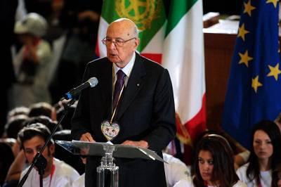 Il presidente della Repubblica Italiana Giorgio Napolitano (Getty Images)