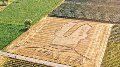 baltotelli Nazionale, Balotelli in versione land art