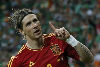 L'attaccante spagnolo Fernando Torres