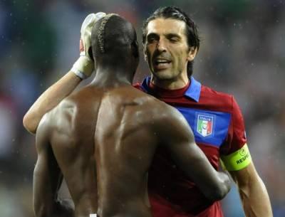 Presunta lite Buffon-Balotelli