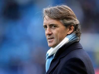 Il tecnico del Manchester City Roberto Mancini