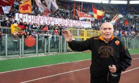 Giorgio Rossi il giorno dell'addio alla Curva Sud