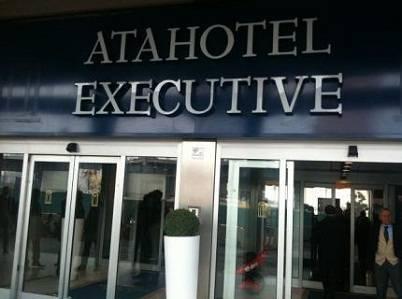 L'atahotel Executive di Milano dove fino a poco fa si è svolto il calciomercato