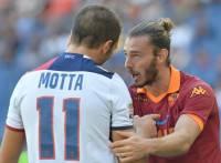 Balzaretti e Motta durante Roma-Bologna