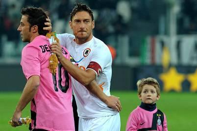 Alessandro Del Piero con Francesco Totti
