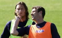 Totti e Cassano in maglia azzurra