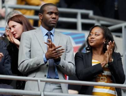 Fabrice Muamba con la sua fidanzata