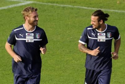 Daniele De Rossi e Pablo Osvaldo