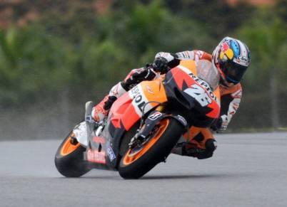 Daniel Pedrosa sulla sua Honda