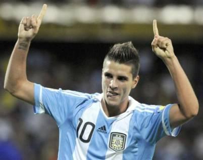 Erik Lamela con l'Argentina Under 20