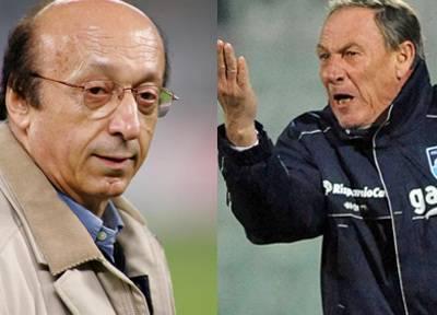 Luciano Moggi e Zdenek Zeman