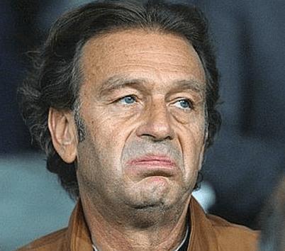 Il presidente del cagliari Massimo Cellino con un viso che spiega tutto