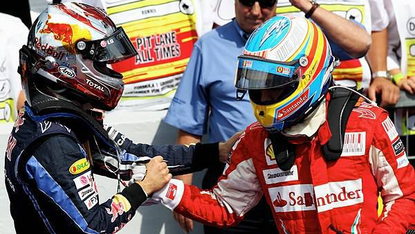 Alonso-Vettel, ancora testa a testa