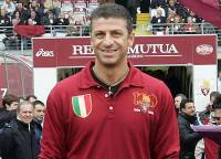 L'ex attaccante della Roma Ruggiero Rizzitelli