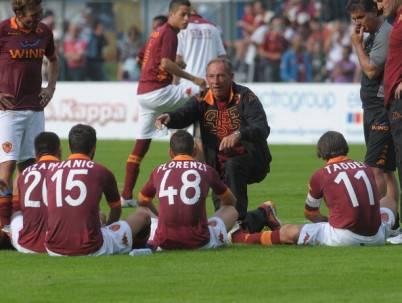 Zeman ed il gruppo Roma