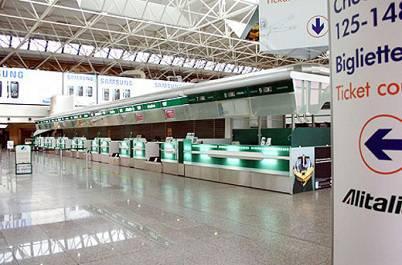 Una veduta di un interno dell'aeroporto di Fiumicino