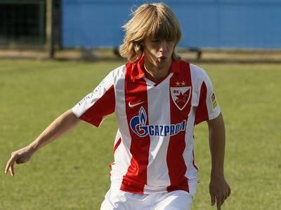 Il centrocampista della Stella Rossa Filip Jankovic