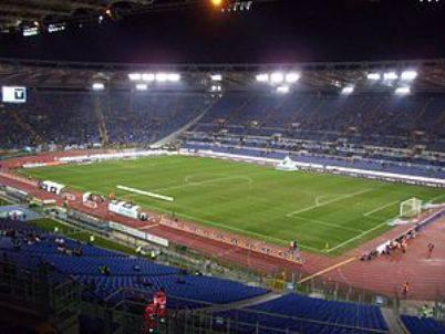 Lo stadio Olimpico di sera