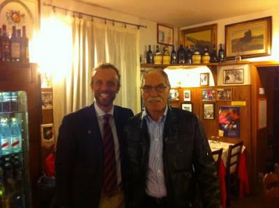 Romeo Benetti oggi (a destra)