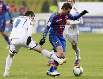 L'attaccante russo Alan Dzagoev con la palla al piede (Getty Images)