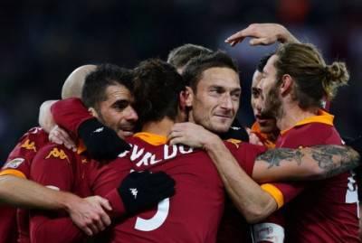 Il gruppo Roma esulta