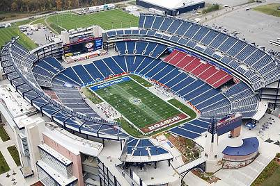 Una visione dello Gillette Stadium di Boston