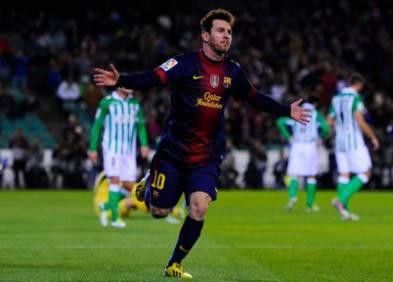 Leo Messi esulta