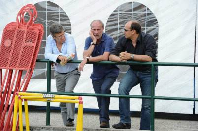 I dirigenti giallorossi a Trigoria