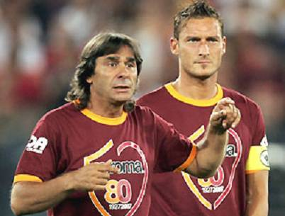 Francesco Totti e Bruno Conti