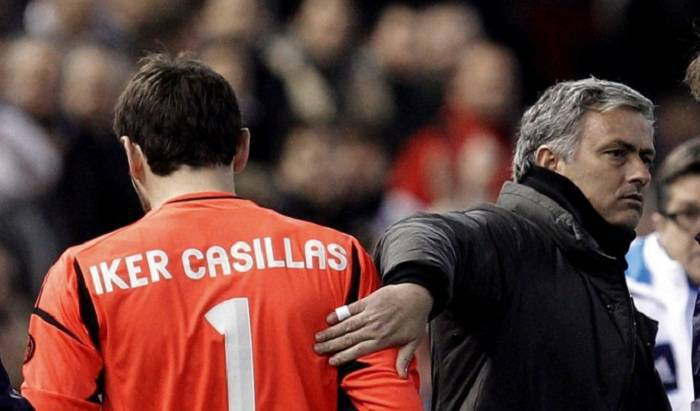 Iker Casillas e Josè Mourinho