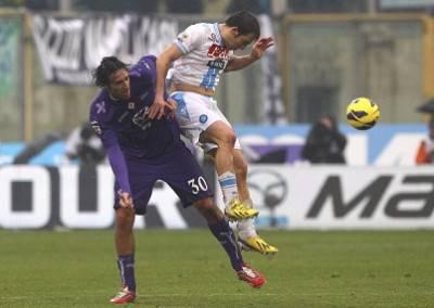 Un'immagine della gara tra Fiorentina e Napoli (Getty Images)